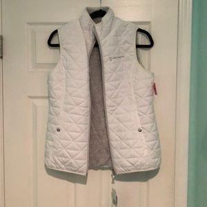 White/Grey reversible puffer vest
